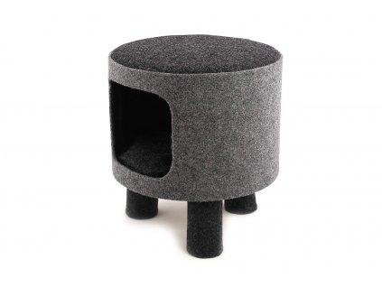 Stylový úkryt – odpočívadlo pro kočky od ROSEWOOD. Vyvýšený vstup pro dokonalé soukromí, vyjímatelný polštář, rozměry 35 × 40 cm.