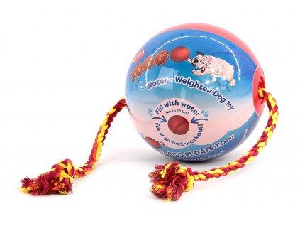 Originální hračka pro psy – míč TUGGO BALL. Hračku můžete naplnit vodou a nechat své psy užít si ještě více zábavy. Ve vodě plave, lano lze snadno vyměnit.