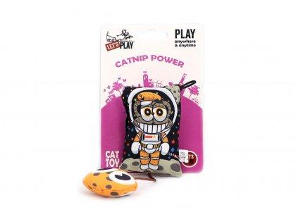 Oblíbená hračka pro kočky – polštářek plněný kvalitním catnipem. Hračka při stisknutí šustí, délka cca 19 cm.