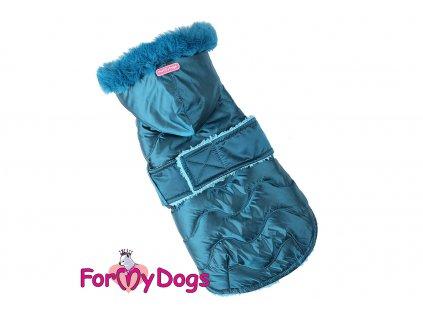 Obleček pro psy i fenky od FMD – teplá zimní bunda BLUE z voduodpuzujícího materiálu. Bunda je zateplená sinteponem a má kožešinovou podšívku. (5)
