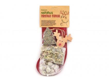 Dárkový balíček pro hlodavce v originálním vánočním balení od ROSEWOOD. Tři druhy pamlsků a dřevěná hračka. Balení 165 g.