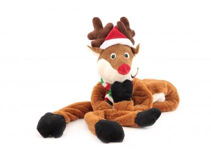 Velká hračka pro psy od ROSEWOOD – sob. Hračka je vyrobená z měkoučkého plyše kombinovaného s provazem, velikost cca 105 cm, pískací.