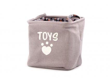 Taška na hračky pro psy s vánočním motivem je nepostradatelná pomůcka pro všechny chovatele psů.