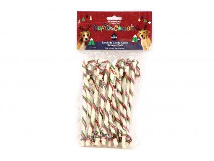 TIP na vánoční dárek pro psy – balíček zdobených a tvarovaných kostiček z buvolí kůže.