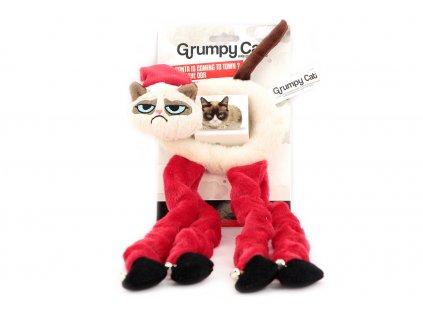 Originální hračka pro kočky – kočka s natahovacíma nohama plněná kvalitním catnipem a opatřená rolničkami.