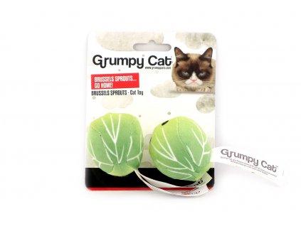 Hračka pro kočky ve tvaru růžičkové kapusty. Hračka je plněná kvalitním catnipem a při pohybu chrastí.