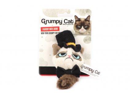 Hračka pro kočky ve tvaru kočičího gentlemana s kloboukem a motýlkem. Hračka je plněná kvalitním catnipem.