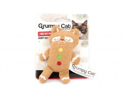 Hračka pro kočky ve tvaru kočky z perníku s barevnými knoflíky. Hračka je plněná kvalitním catnipem, velikost cca 11 cm.