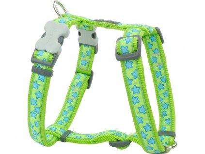 Postroj pro psy Stars Lime Green – zelený
