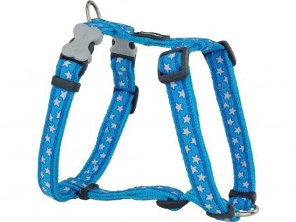 Postroj pro psy Stars Turquoise – modrý