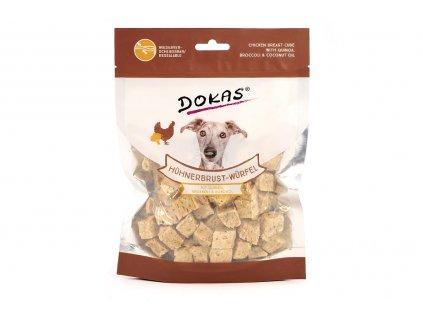 Pamlsky pro psy – kuřecí kostky s quinou a brokolicí
