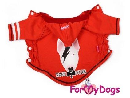 Mikina pro psy a fenky For My Dogs Pitbull, červená