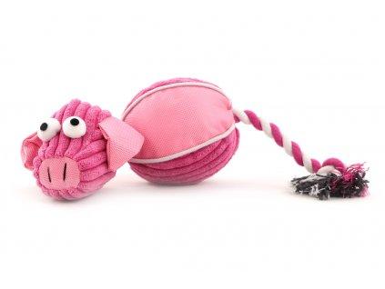 Hračka pro psy, růžové prasátko