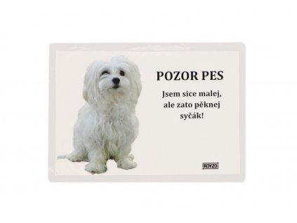 cecc931654a Samolepící cedulka Maltézský psík