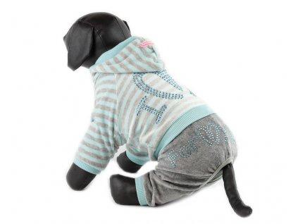 Oblečky pro psy – velurový overal pro psy a fenky For My Dogs s kamínky