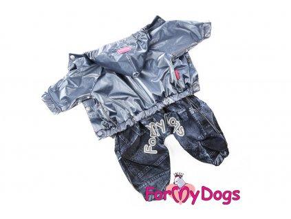 Obleček pro psy pláštěnka DARK SILVER
