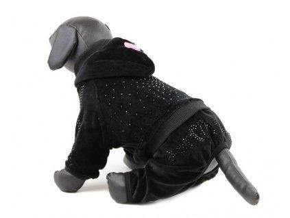 Oblečky pro psy – velurový overal pro psy a fenky For My Dogs, krystaly Swarowski