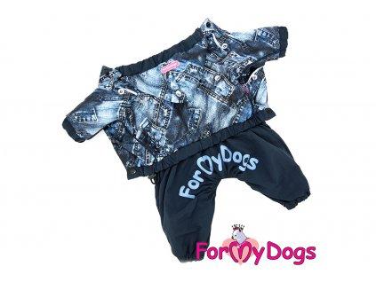 Obleček pro psy pláštěnka BLUE DENIM