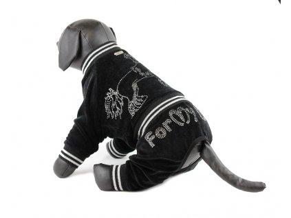 Oblečky pro psy – velurový overal pro psy a fenky FMD s krystaly Swarovski