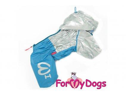 Obleček pro psy pláštěnka BLUE/SILVER