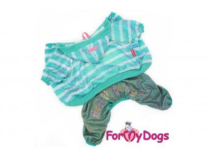Obleček pro psy i fenky overal SHIMMERING BLUE