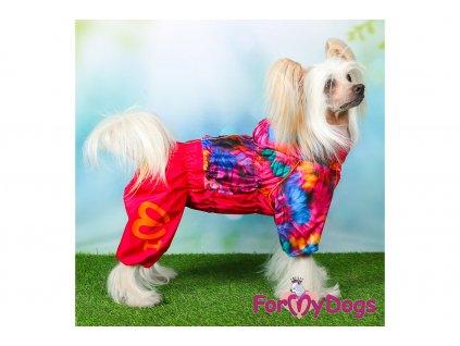 Obleček pro fenky pláštěnka FLOWERS PINK 6