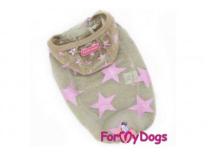 Obleček pro psy i fenky tričko BEIGE STARS
