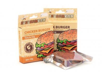 Pamlsky pro psy HUHUBAMBOO vepřový hamburger