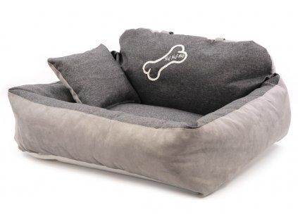 Pelíšek pro psy do auta HafHaf-shop béžový