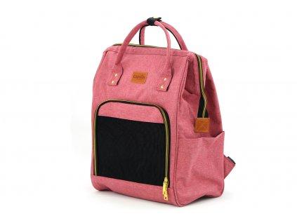 Batoh a taška na psa 2v1 růžová