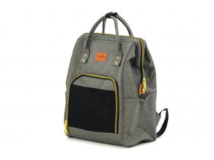 Batoh a taška na psa šedá