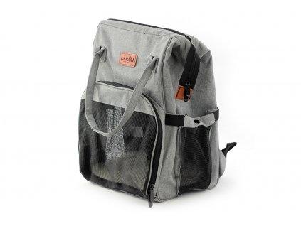 Batoh a taška na psa do 3 kg šedá