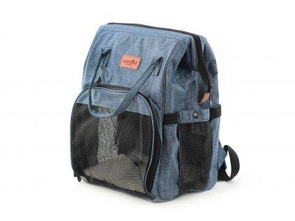 Batoh a taška na psa do 3 kg modrá