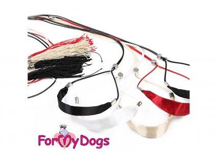 Výstavní vodítko pro psy FMD SILK BLACK