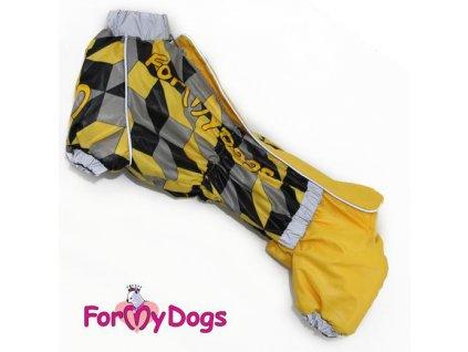 Zimní overal pro psy krátkonohých plemen For My Dogs, žlutý