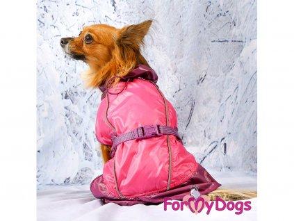 Obleček pro psy i fenky pláštěnka FUCHSIA