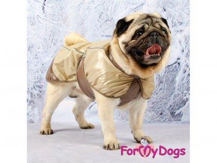 Obleček pro psy i fenky pláštěnka BROWN JACKET