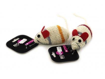 Sisalová myška pro kočky BOBBY