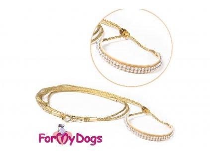 Výstavní vodítko pro psy FMD gold white
