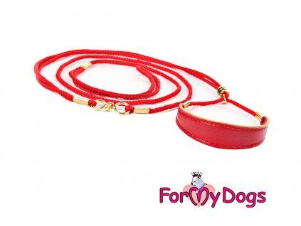 Výstavní vodítko pro psy FMD red