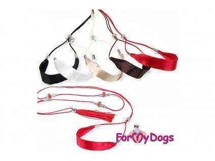 Výstavní vodítko pro psy FMD SILK RED