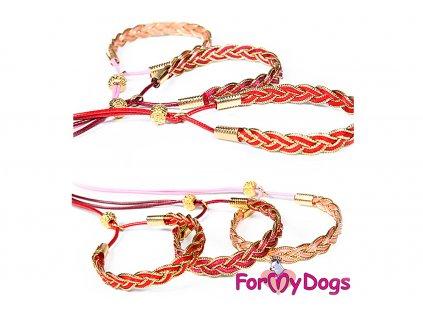 Výstavní vodítko pro psy FMD RED FUCHSIA