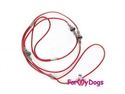 Výstavní vodítko pro psy ForMyDogs RED