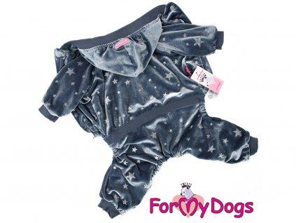 Obleček pro psy i fenky overal FMD VELOR GREY