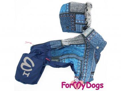 Obleček pro psy zimní overal FMD BLUE