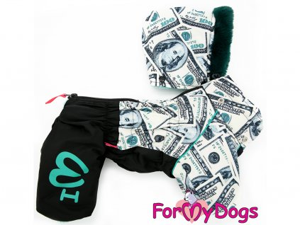 Obleček pro psy zimní overal FMD BLACK $$$