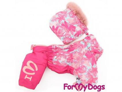 Obleček pro fenky zimní overal FMD PINK