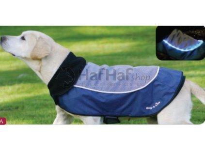 Obleček pro psy i fenky – nepromokavý reflexní kabát sLEDkami
