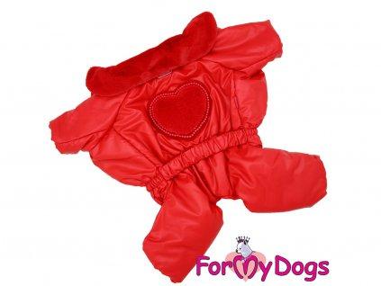 Obleček pro fenky zimní overal RED HEART