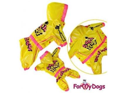 Overal, pláštěnka pro psy a fenky For My Dogs, žlutá